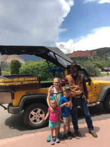 "Daniel AKA ""Ridge Runner"" with the kids. This guy is doing it right. He drives a jeep and gets to wear a gun a work."